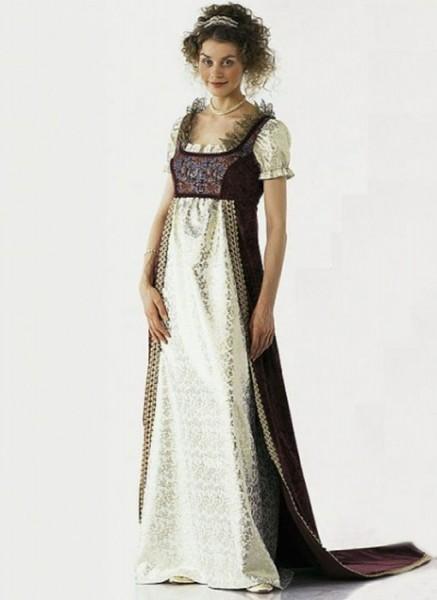 burda Schnitt Empire-Kleid 2493 - Modell AB