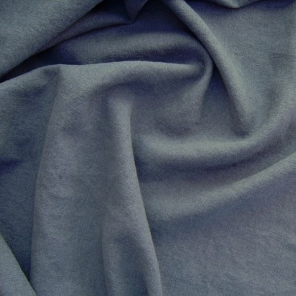 Leinenstoff Reinleinen DAMIEL uni blau