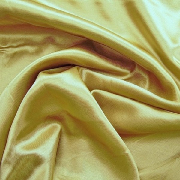 Kettsatin Polyester-Baumwolle goldfarbig