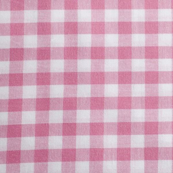 Baumwollstoff Zefir Karo 10 rosa