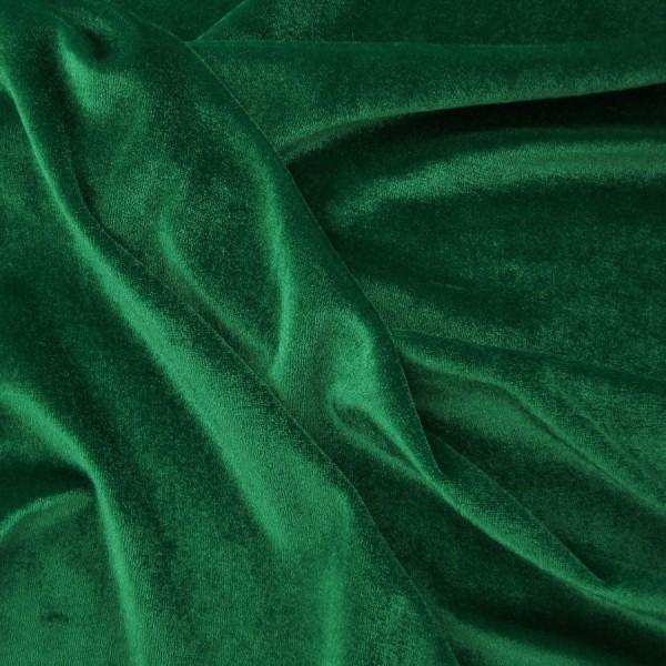 Stretchsamt ELKE grün