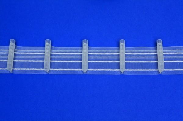 Gardinenband Automatikfalte SIRTAKI transparent 1er-Falte