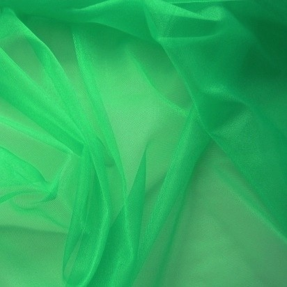 Rest Charmeuse grün 1,0 Meter
