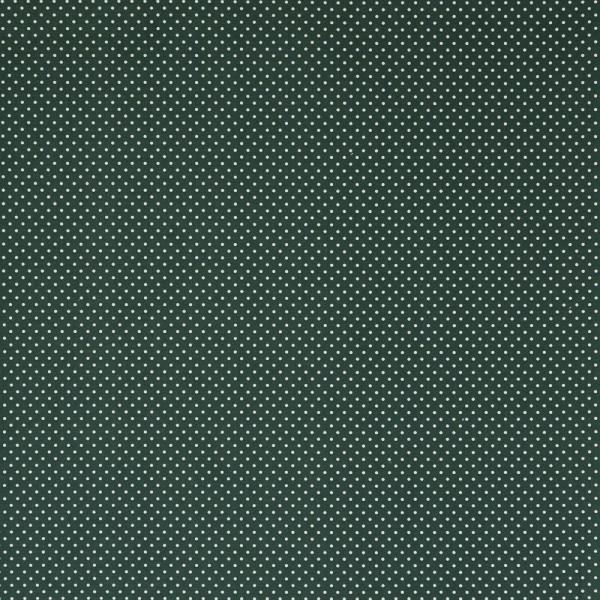 Baumwollstoff JUDITH Tupfen dunkelgrün-weiß 2 mm