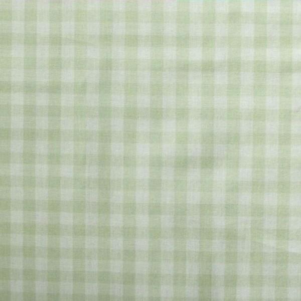 Batist VICHY-KARO 03 lindgrün-weiß