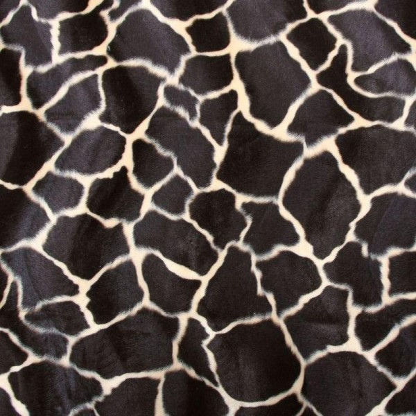 Kunstfell Fellimitat ALEX Giraffe braun-beige