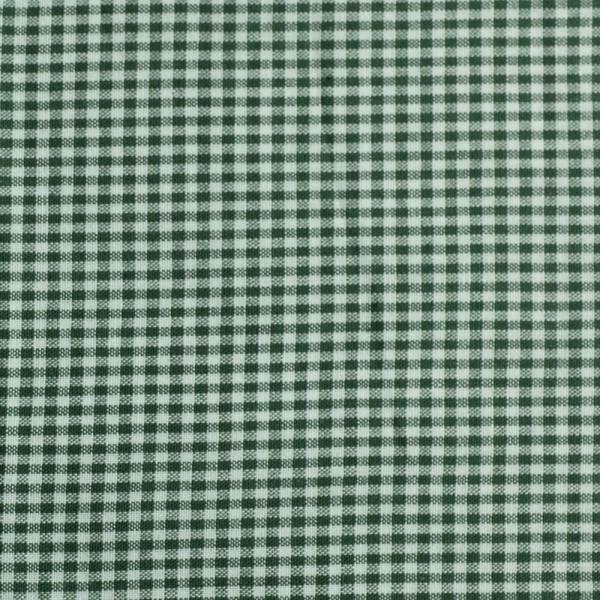 Baumwollstoff Zefir Karo 05 dunkelgrün
