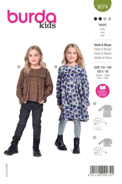 Burda Schnitt 9274 Kleid und Bluse