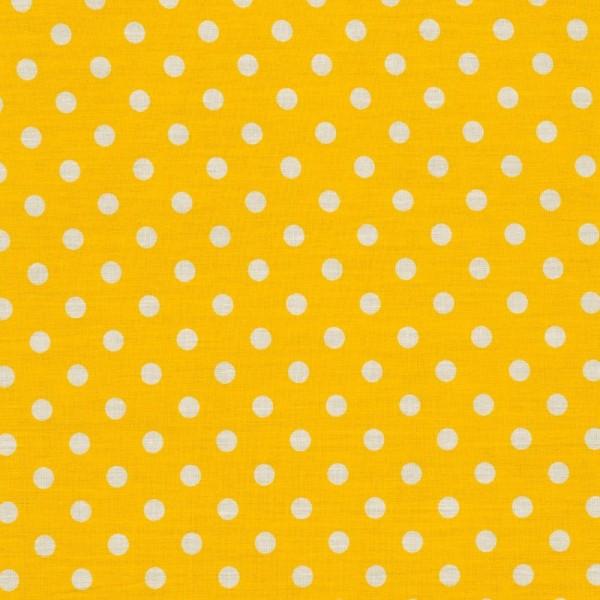 Baumwollstoff JUDITH Tupfen gelb-weiß 7 mm