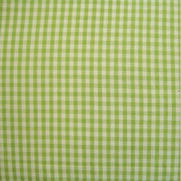 Batist VICHY-KARO 03 kiwi-weiß