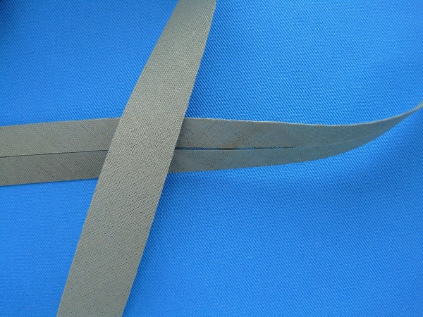 Schrägband Baumwolle 40/20 mm grau