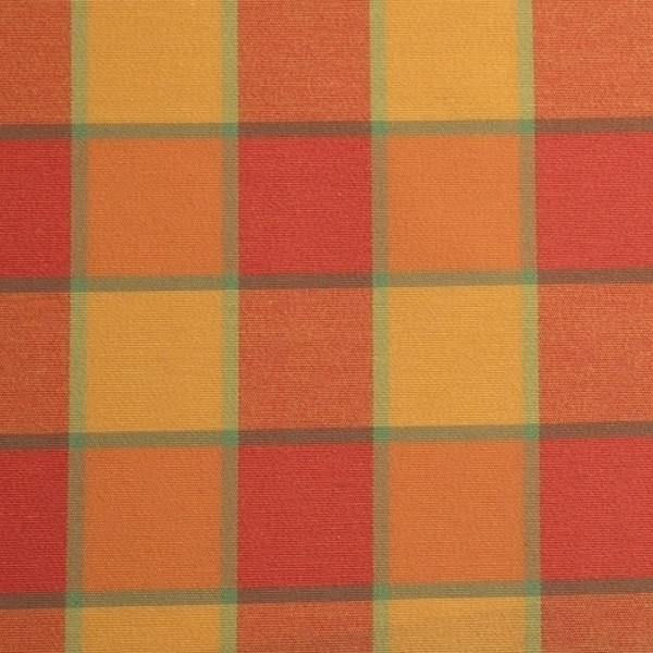 Dekostoff Karo rotorange-multicolor