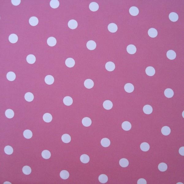 Stoff POWER PUNKTE pink-weiß