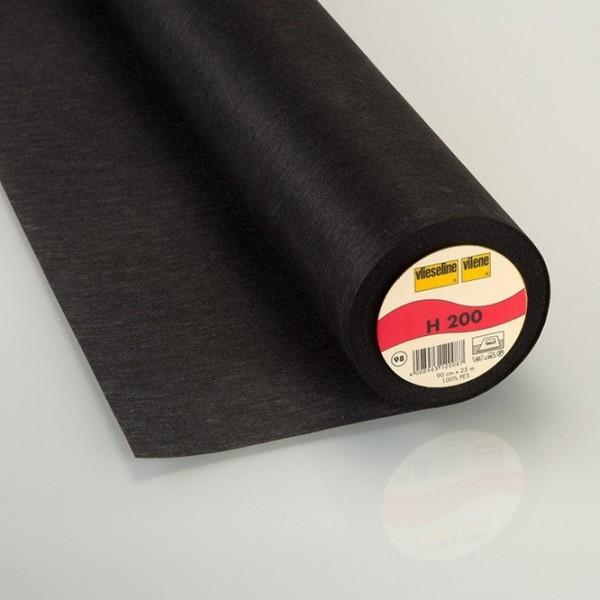Vlieseline aufbügelbar H200 schwarz