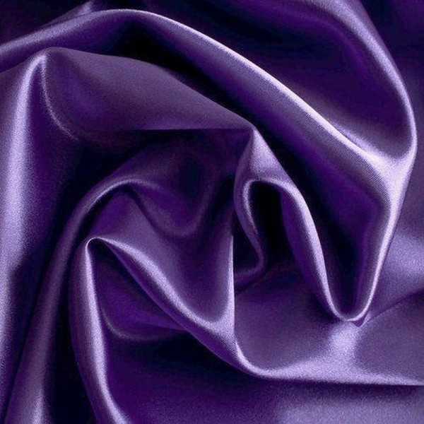 Kettsatin Polyester-Baumwolle lila
