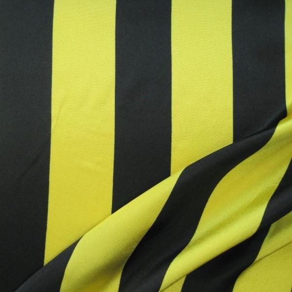 Satin STREIFEN gelb-schwarz