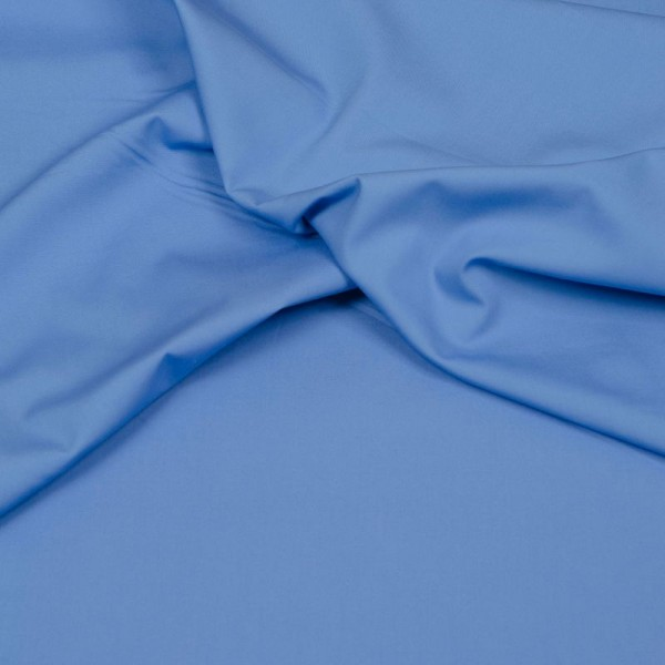 Baumwollstoff Popeline blaugrau