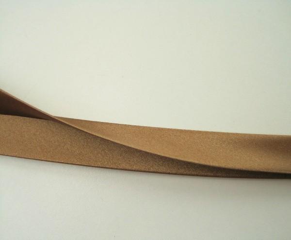 Satin-Schrägband 80/40/20 mittelbraun