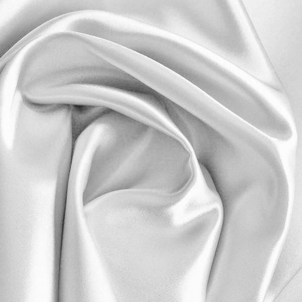 Kettsatin Polyester-Baumwolle weiß