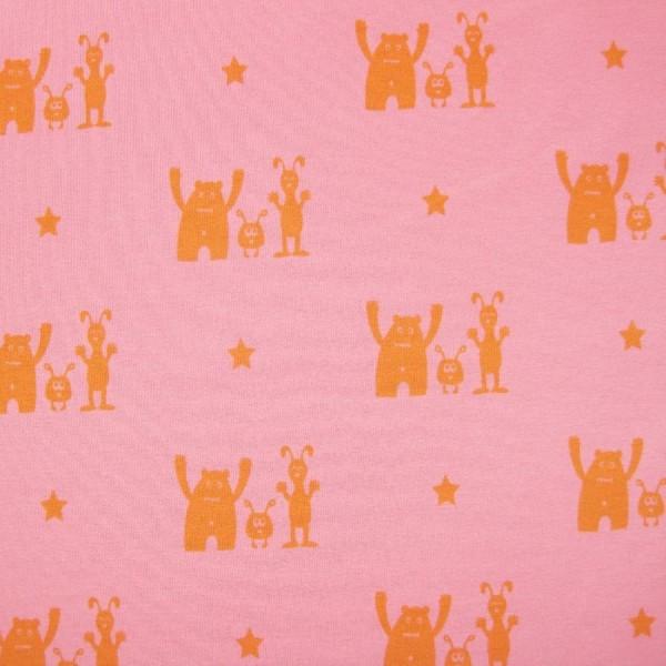 Sweat BEST BUDDY pink-orange