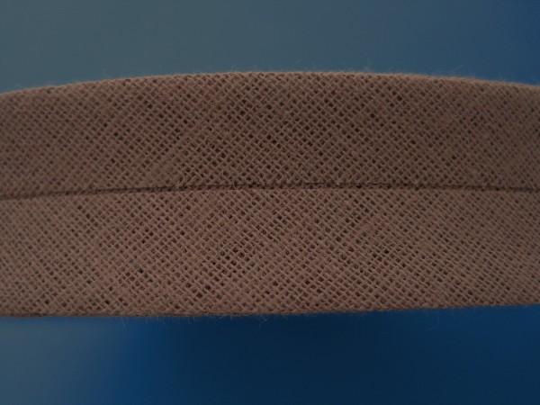 Schrägband Baumwolle 40/20 mm braun