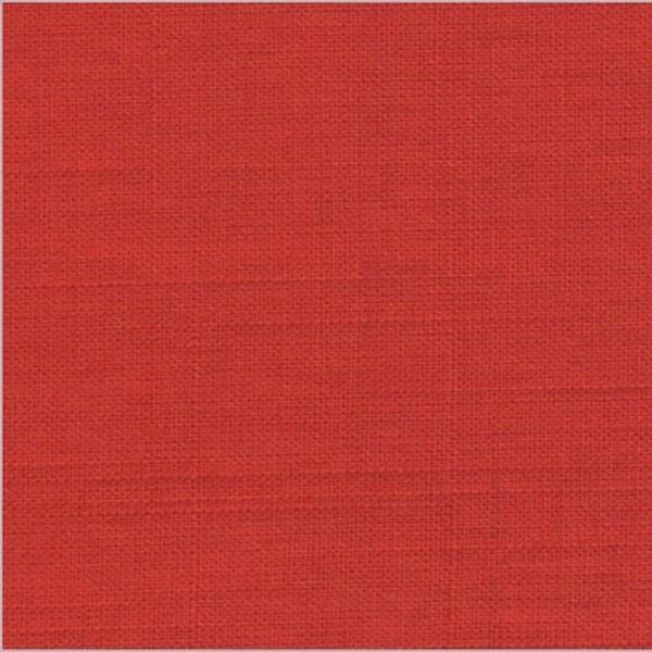Bekleidungsstoff LEINENOPTIK rot