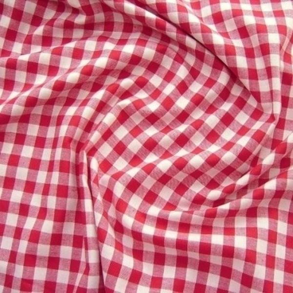 Baumwollstoff Zefir Karo 10 rot