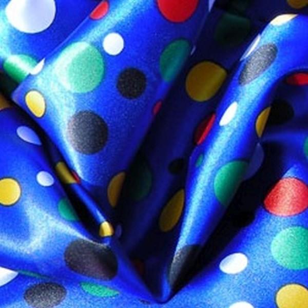 Satin CLOWN blau-multicolor