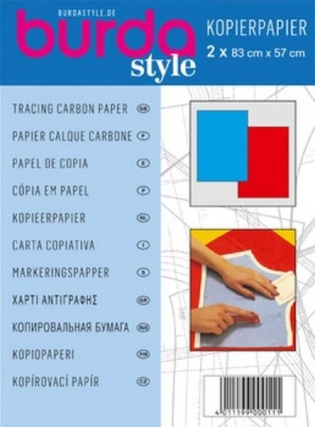burda Kopierpapier blau-rot
