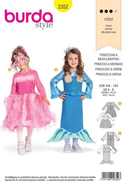 Burda Schnitt Kleid: Prinzessin - Meerjungfrau 2352