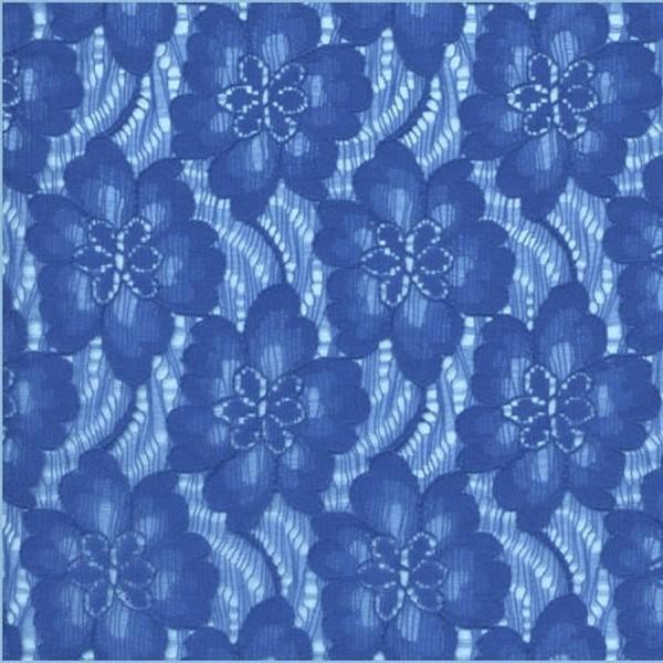 Spitzenstoff FLEUR blau