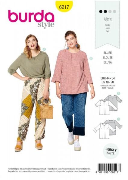 Burda Schnitt Shirt – Krempelärmel – Ärmel mit Volants 6217