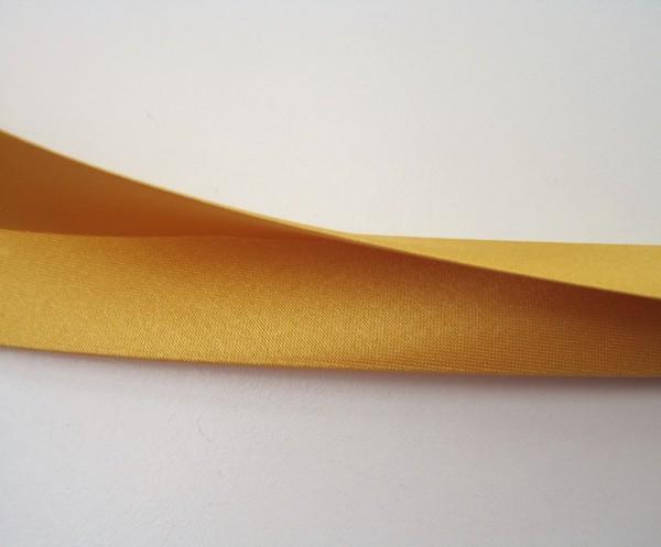 Satin-Schrägband 80/40/20 goldfarbig