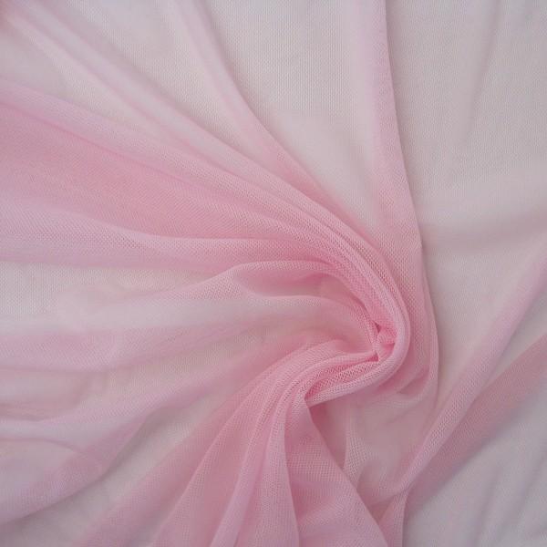 Tüll querdehnbar geschmeidig rosa