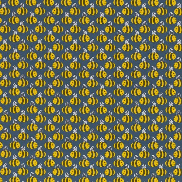 Jersey Stoff Bienen auf jeansblau, Animal Minis by käselotti