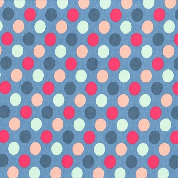 Jersey PUNKTE rauchblau-multicolor