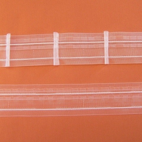 Gardinenband Automatikfalte BOOGIE 5 transparent - 1er Falte