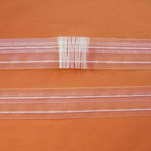 Universalgardinenband ODESSA transparent - variabel, Einzelfalten