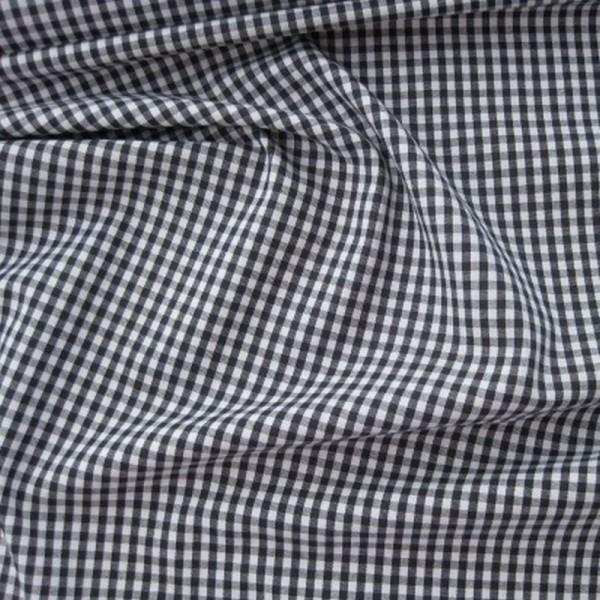 Batist VICHY-KARO 03 schwarz-weiß