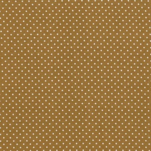 Baumwollstoff JUDITH Tupfen beige-weiß 2 mm