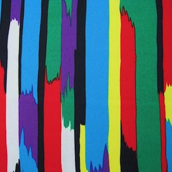 Stoff POWER Streifen multicolor