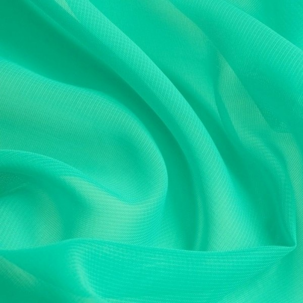Chiffon SELINA smaragdgrüntürkis