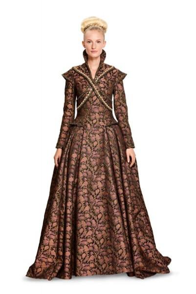 Burda Schnitt Renaissance - Langes Kleid mit ausladendem Rock 6398