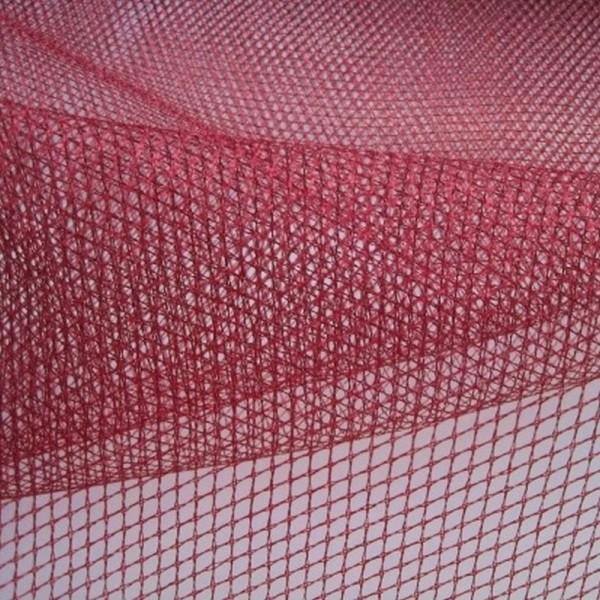 Rest Lurexnetz FEST weinrot 1,0 Meter