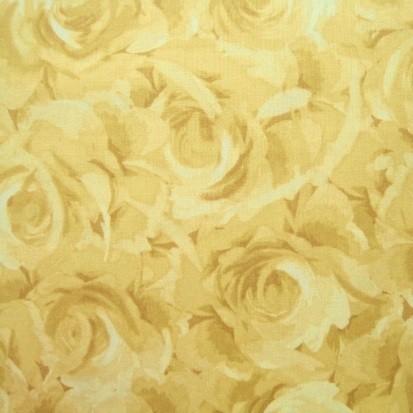 Patchworkstoff ROSES ocker-natur