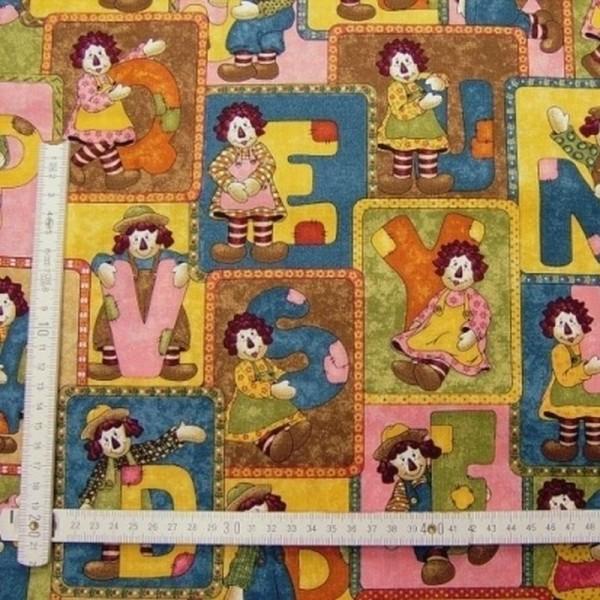 Patchworkstoff ABC Pals multicolor