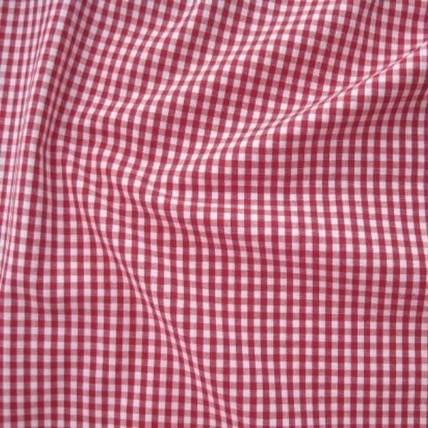 Batist VICHY-KARO 03 rot-weiß