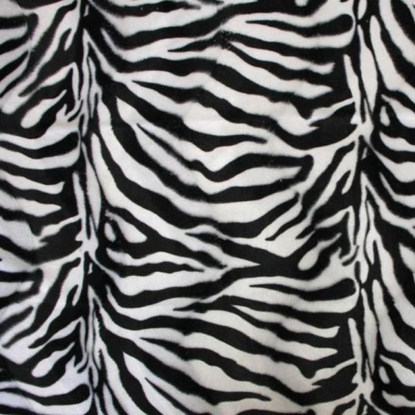 Kunstfell Fellimitat FANNY Zebra schwarz-weiß