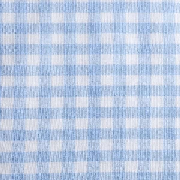 Baumwollstoff Zefir Karo 10 hellblau