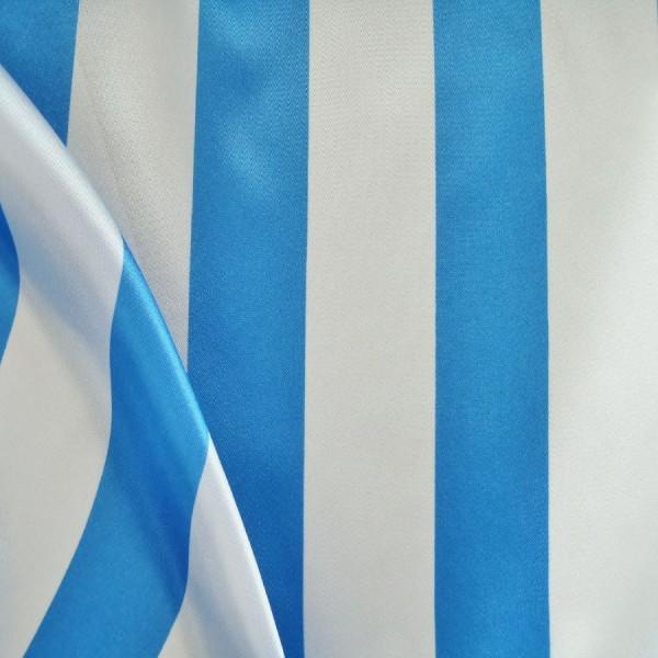 Satin STREIFEN blau-weiß